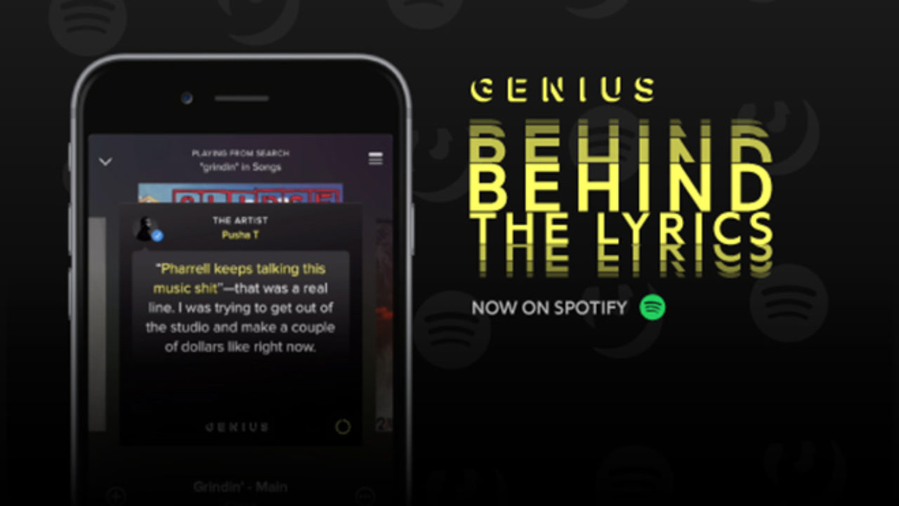 spotify behind the lyrics