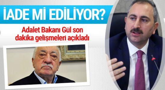 Hak Bakanı Gül duyurdu Amerika Birleşik Devletlerili Gülen için geliyor