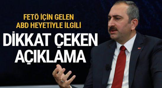 Abdülhamit Gül'den FETÖ için gelen Amerika Birleşik Devletleri kuruluyla alakalı dikkat sürükleyen söyleme