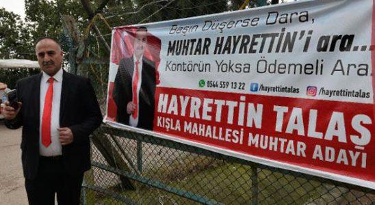 'Kontörün yoksa ödemeli ara' muhtardan espirili slogan