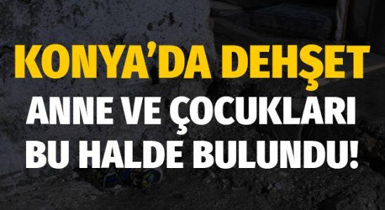 Konya'da korku: Anne ve iki çocuğu öldürülmüş halde bulundu!