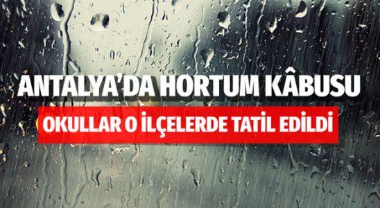 Antalya'da 5 ilçede mektepler tatil edildi