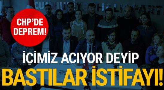 CHP Çorlu'da zelzele! İçimiz acıyor deyip bastılar istifayı