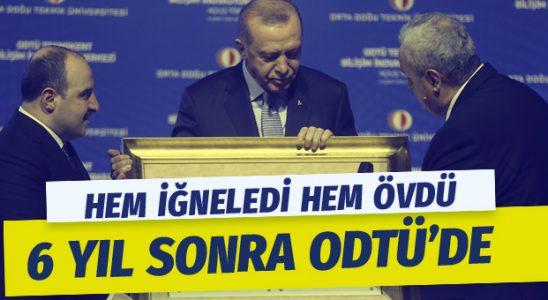 Erdoğan 6 sene sonra ODTÜ'ye adım attı ODTÜ'lülere bakın neler dedi?
