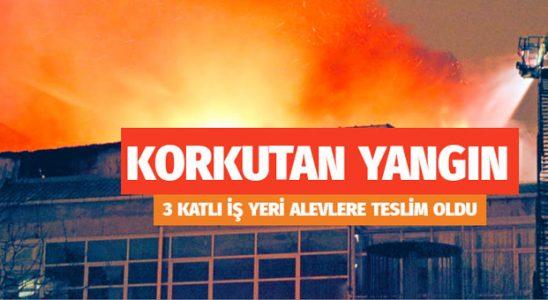 Kağıthane'de korkutan iş yeri yangını