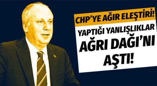 Muharrem İnce'den CHP Genel Merkezi'ne ağır tenkit!