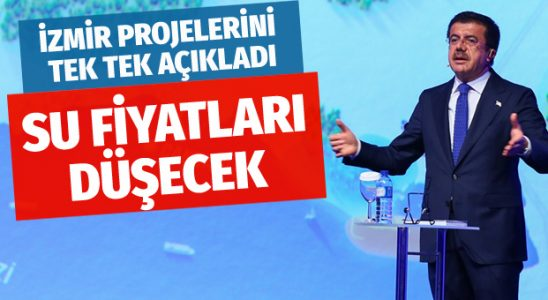 Nihat Zeybekçi İzmir projelerini açıkladı bakın neler var