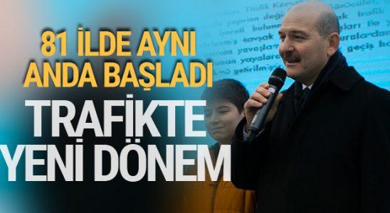 Süleyman Soylu duyurdu! Trafikte yeni yarıyıl resmen başladı!