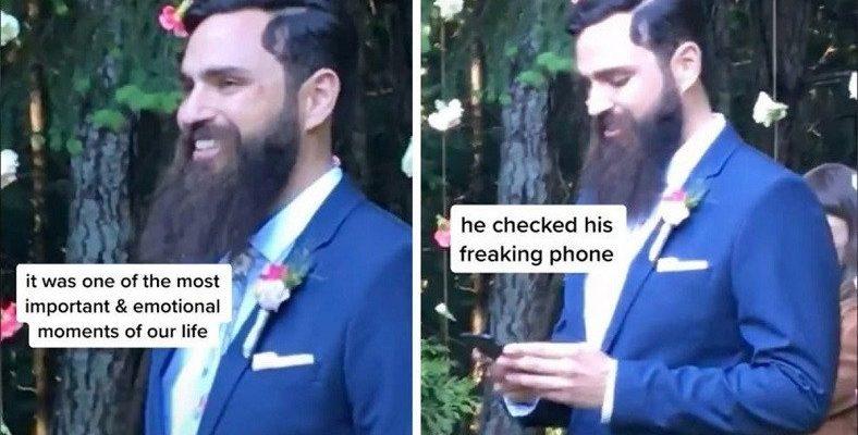 Bir Damadın Düğünün En Önemli Anında Telefonuna Baktığı Video Viral Oldu: Kripto Paralarını Kontrol Ediyormuş