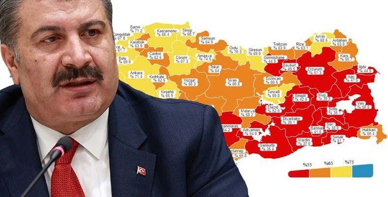 Türkiye'nin COVID-19 Aşı Haritası Güncellendi: İşte En Yüksek ve En Düşük Oranda Aşılanan İller