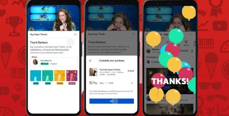 YouTube, Kullanıcıların İçerik Üreticileri Destekleyebileceği Yepyeni Bir Özellik Test Ediyor: Süper Teşekkür