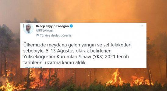 YKS Tercih Dönemi, Orman Yangınları ve Seller Nedeniyle Uzatıldı