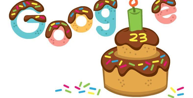 Google, 23. Yaş Gününü Çikolatalı Pastayla Kutladı